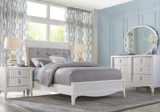 cindy crawford home clarendon heights white 5 pc queen panel
