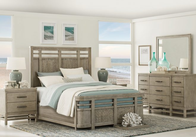cindy crawford home golden isles gray 5 pc king panel