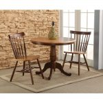 cinnamon espresso 36 in round solid wood dining table