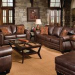classic couch three cushion seat brown sofa set for the