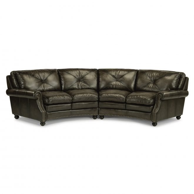 classic dark gray leather 2 piece sectional sofa suffolk