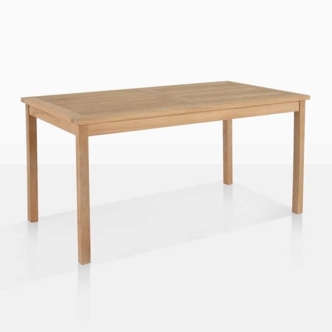 classic rectangle teak dining table fixed