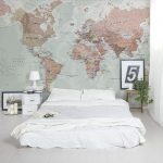 classic world map wallpaper with amazing detail and colour