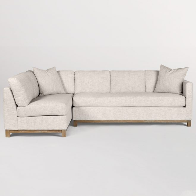 clayton sectional left facing chaise laf alder tweed furniture