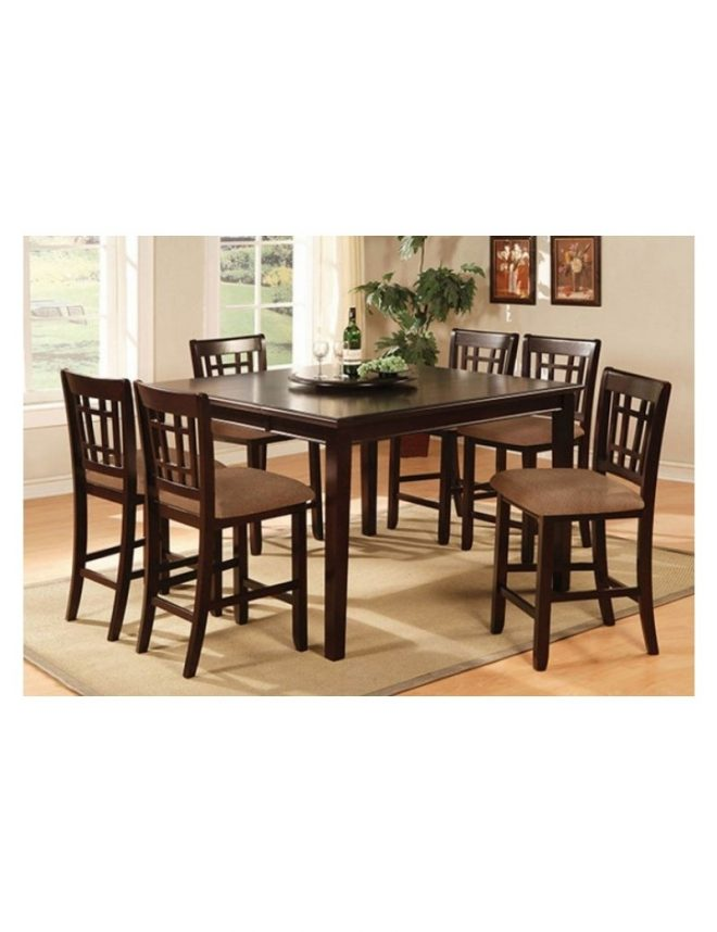 cm3100 central park iii import furniture of america counter height dining set dark cherry finish
