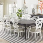 coastal living retreat 9 piece rectangular leg table set