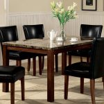 coaster fine furniture telegraph faux marble dining table at