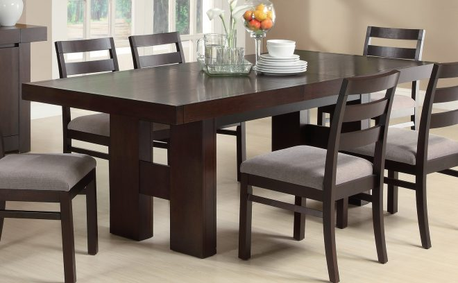 coaster furniture 103101 dabny dining table cappuccino