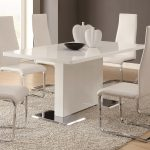 coaster furniture nameth glossy white dining table