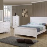 coaster selena youth 4pc sleigh bedroom set in white 400231