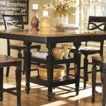 coaster two tone counter height table ashley co 104038