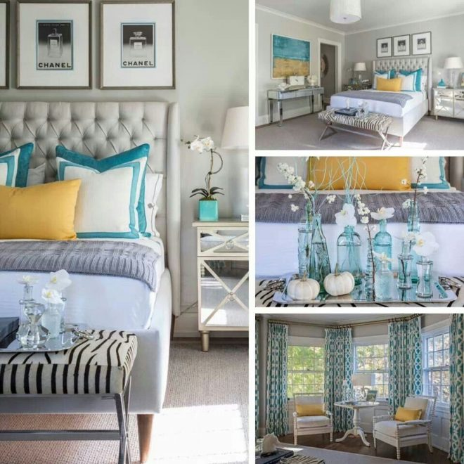 color palette dark teal with accents of yellow and dark