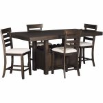 colorado 5 piece counter height dining set