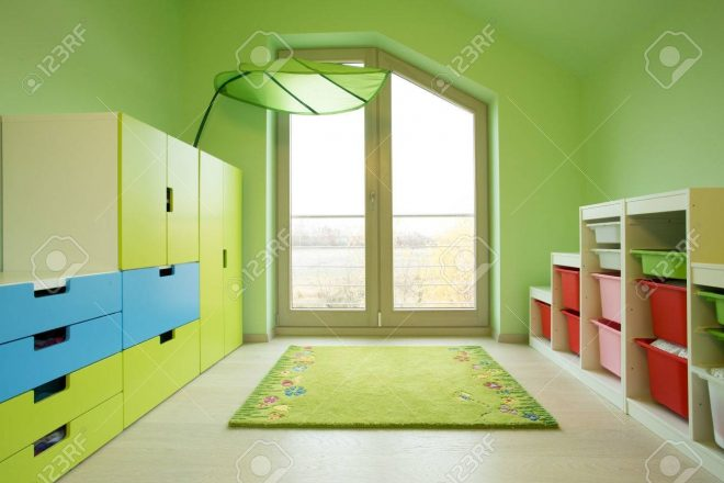 colorful kids room in the attic horizontal stock photo picture and
