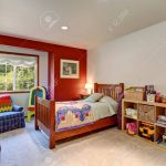 colorful kids room interior with many toys northwest usa stock