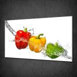 colourful peppers splash kitchen art canvas print picture poster free uk pp