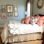 completed linen navy and coral bedroom bedroom ideas
