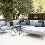 conic airtouch outdoor daybed modul cane line