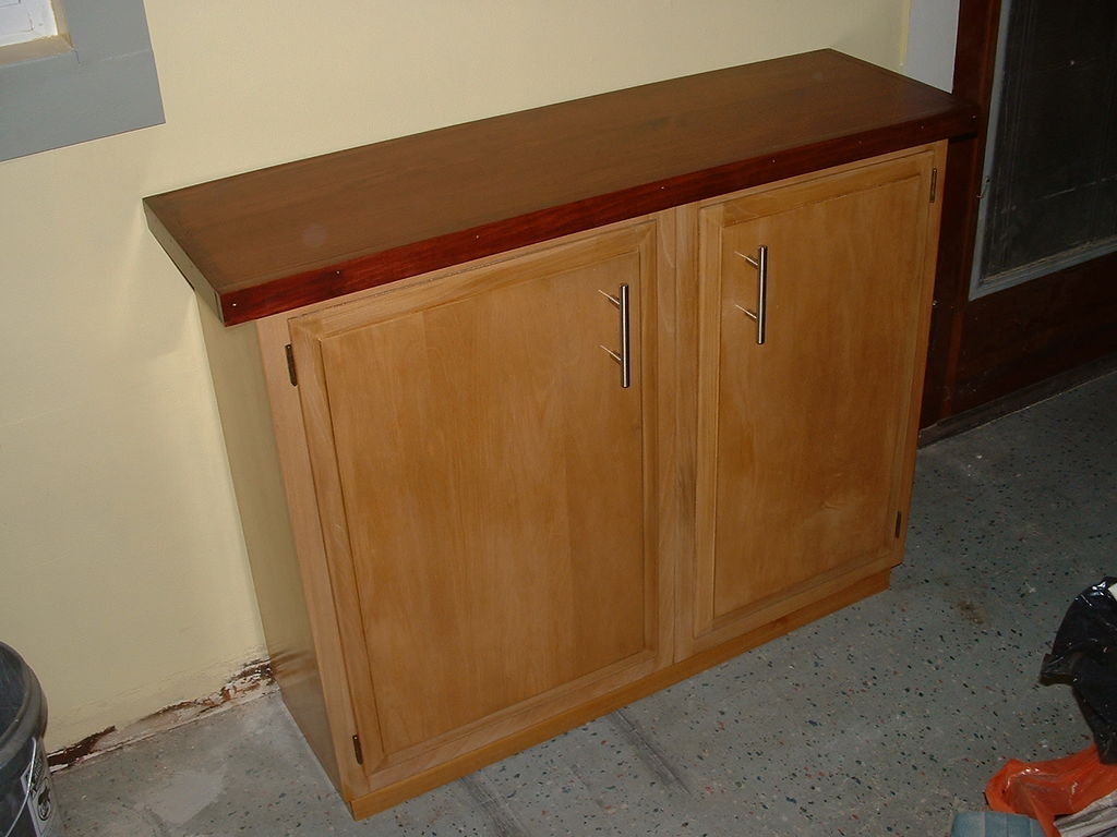 construct a sideboard from kitchen wall cabinets 8 steps with