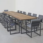 contemporary dining table ash aluminum rectangular