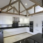 contemporary kitchen barn conversion lacewood designs
