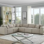 contemporary living room linen l shape sectional sofa classic couch