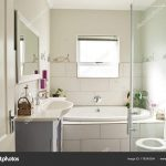 contemporary residential bathroom stock photo mavoimages