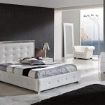 contemporary spain made luxurious bedroom set in white