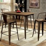 cooper ii industrial metal frame 5pc counter height dining table set