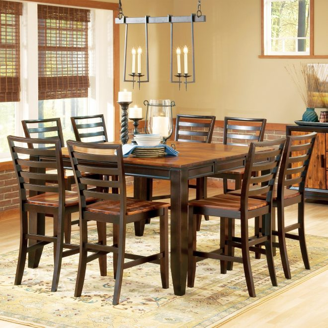 copper grove jeanette two tone counter height dining set