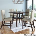 corliving bistro 36 inch counter height cappuccino dining