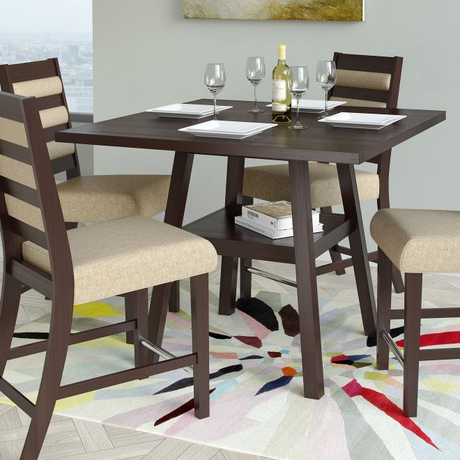 corliving bistro 36 inch counter height dining table