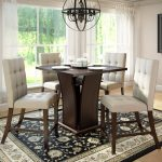corliving bistro 5pc 36 counter height rich cappuccino dining set tufted platinum sage