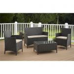 cosco outdoor furniture jamaica 4 piece resin wicker patio