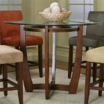counter height dining table with cherry wood base cramco inc