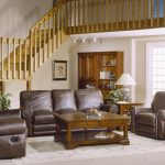 country style brown leather sofa set with sofa loveseat and