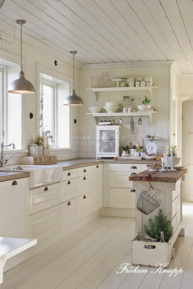 country style love the white kitchen beach house pinterest