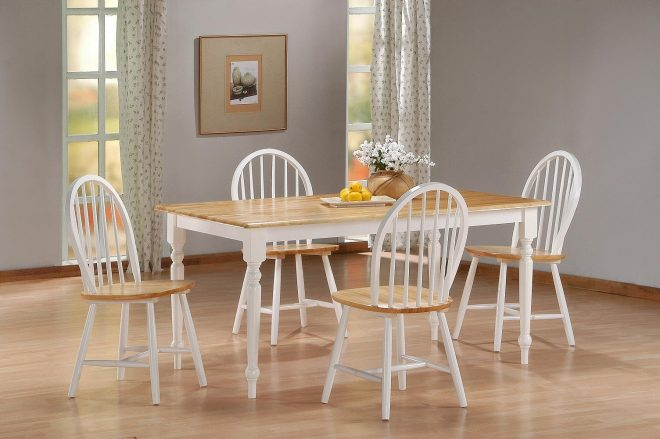 country wood dining room set dinettes condo 5pc kitchen furniture