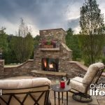 courtyard gas fireplace majestic products