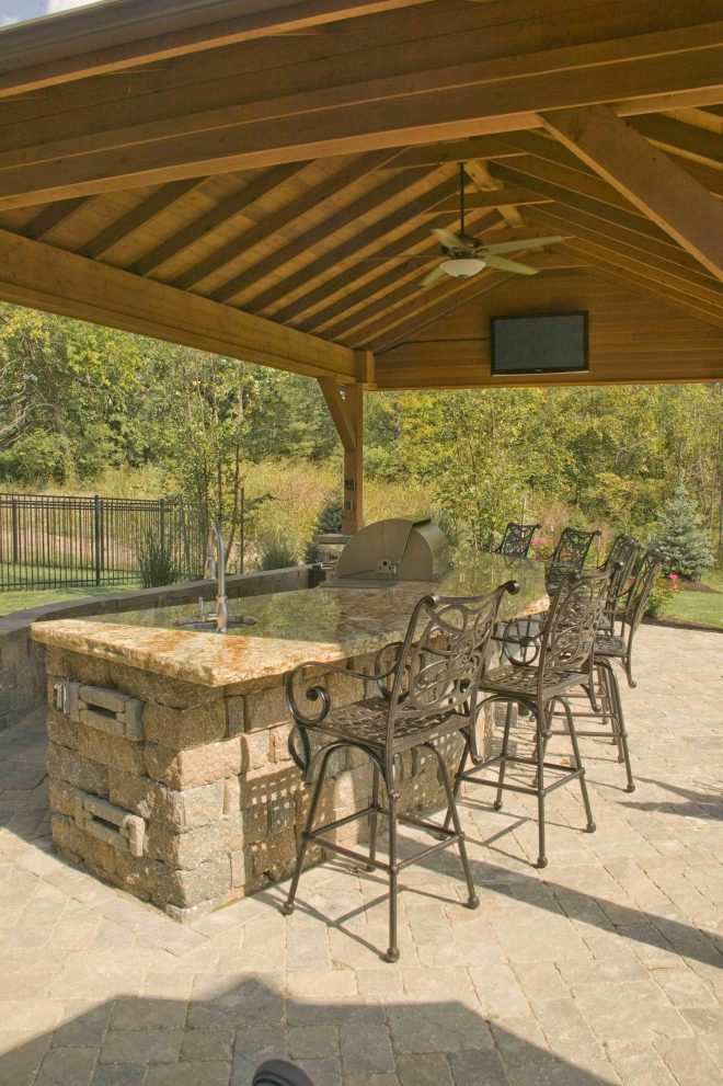 covered outdoor bar with built in grill the ultimate in