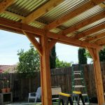 covered patio corrugated metal roof backyard in 2019