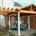 covered patio for outdoor kitchen with arbor practical
