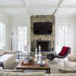 cozy family room with fireplace california home style pinterest