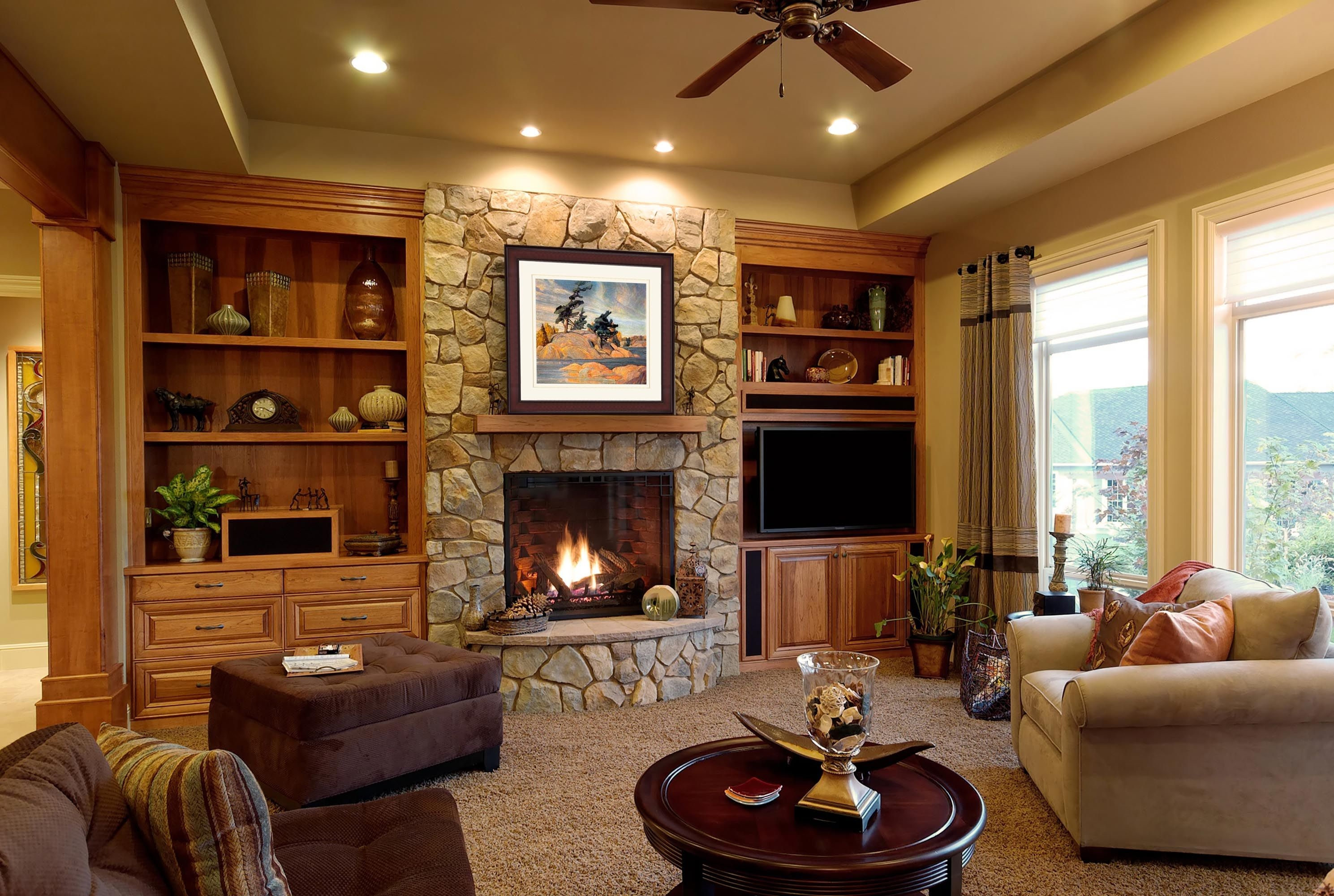 cozy living room with fireplace google search complete living