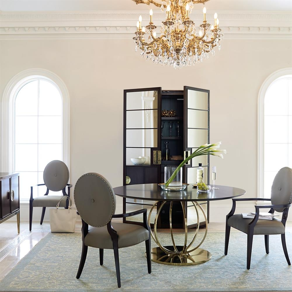 crawford modern classic dining room set kathy kuo home