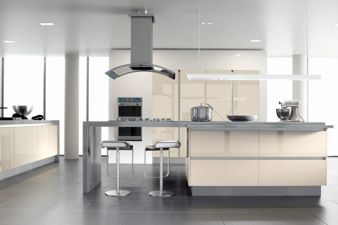 cream high gloss kitchen ideas with brown also black and white