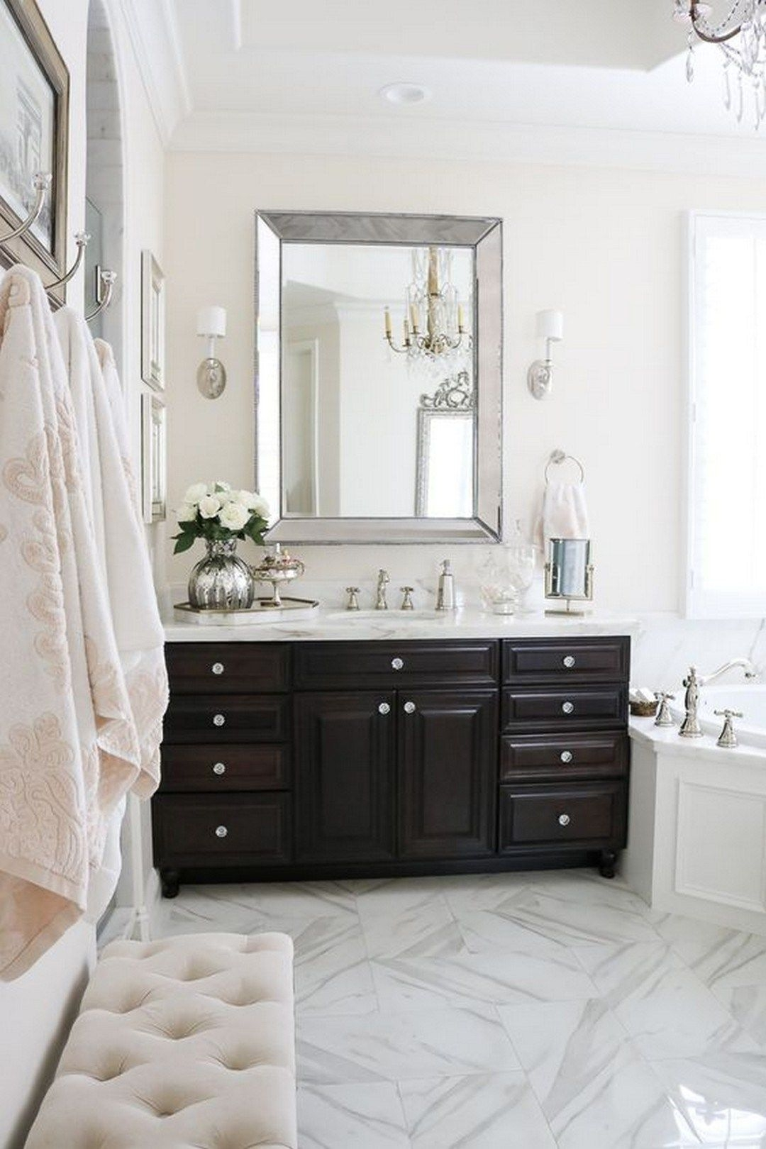 creating elegant master bathroom with the following great ideas