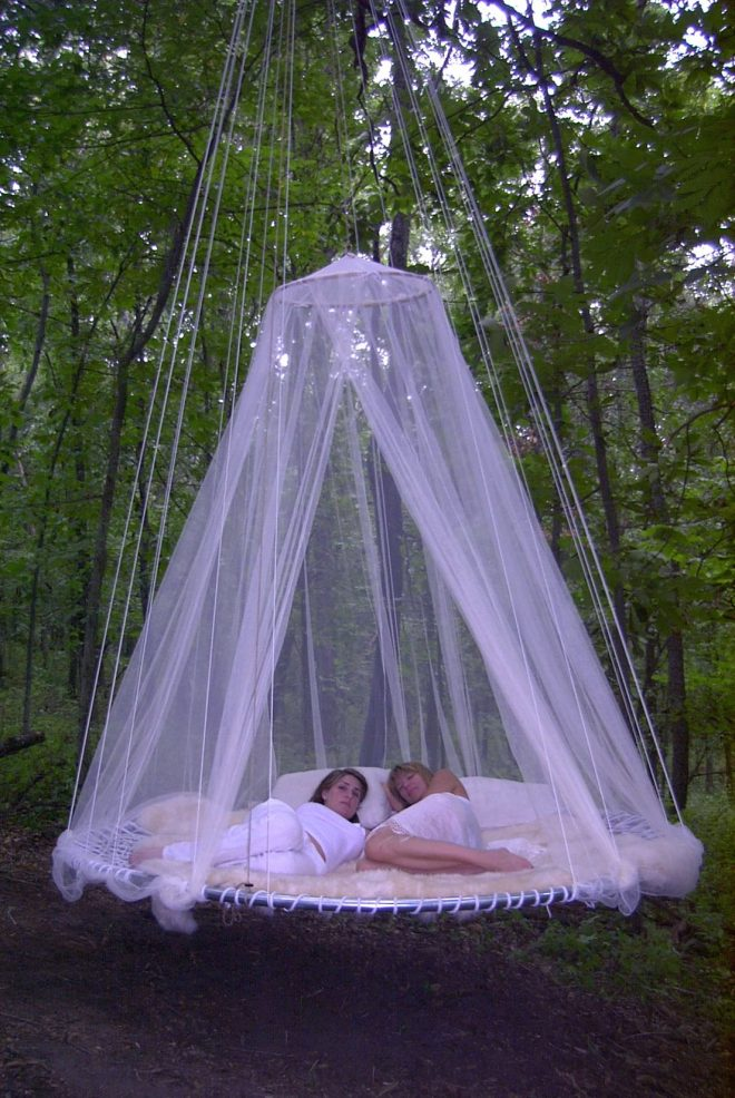 creatively designed floating beds outdoor hanging bed