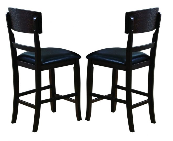 crown mark conner counter height chair in espresso 2849s 24 set of 2