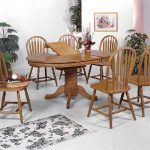 crown mark windsor solid 7 piece oval dining table and side chairs